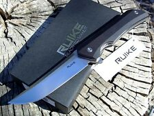 RUIKE knives P121-B Hussar black G10 tactical liner lock knife 14C28N blade