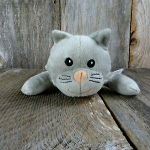 """Gray Kitty Cat Plush Kitten Stuffed Animal Toy 9"""" Melissa & Doug Sewn Eyes"""