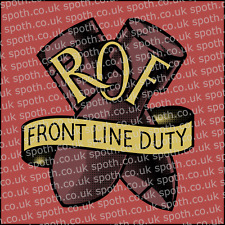 WW2 Royal Ordnance Factory ROF Decal for sparkproof Brodie Helmet (reproduction)