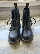 Dr Doc Martens Air Wair Women's Combat Boots Size 7 Black Leather 8-Eye