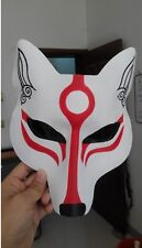 Handmade Leather Japanese Samurai FOX Head Cosplay Mask Masque Halloween Party