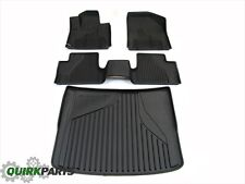 2014-2017 JEEP CHEROKEE ALL WEATHER FRONT AND REAR SLUSH MATS WITH CARGO TRAY