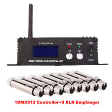 Lixada2,4G Wireless DMX512 Controller Regler Sender+8X Female XLR Empfänger Z3X5