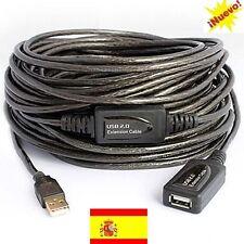 Cable usb 2.0 extension activo 20m  20 Metros. Envios desde España 24 horas.