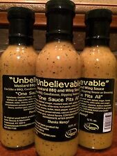 "Mustard barbecue sauce, ""One Sauce Fits All"", 12 ounces"
