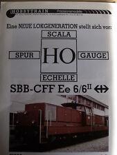 Depliant HOBBYTRAIN1988 in Scala H0 SBB-CFF - DEU - Tr.4