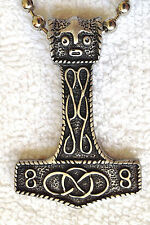 X Large Thors Hammer Pewter Pendant Mens Boys Girls Chain Necklace   LPC 028