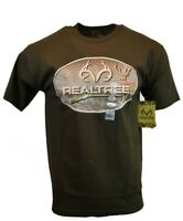 REALTREE Mens T Shirt M XXL 3XL American Deer Buck Logo Hunting Camo Tee NEW