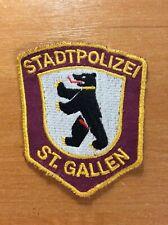 VINTAGE PATCH POLICE POLIZEI SWISS SWITZERLAND ( cantone ST. GALLEN ) - ORIGINAL