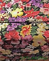 "2.1Yd R.Kaufman ""Island Garden for the Aloha State"" Flowers of Hawaii Ctn Fabric"