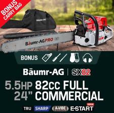 "24"" E-Start Pro-Series 82cc Petrol Chainsaw 5.5 HP EURO 2 -2 Stroke Commercial"