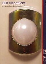 Nachtlicht metallic LED, Menüschalter: Einfarbig - Farbwechselnd - Aus,  Düwi