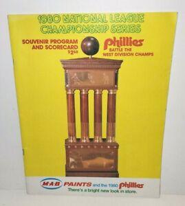 PHILADELPHIA PHILLIES NATIONAL LEAGUE CHAMPION SERIES BASEBALL PROGRAM 1980