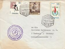 Stamps Spain 1968 plain cover sent airmail to Germany Lufthansa cachet at left