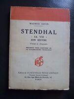 Maurice David Stendhal Son Maestra Envío + Gira Autografiada N. R.c 1931 París