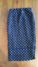 Hot Options Black Polka Dot lined skirt textured sz6 BNWOT free post E3