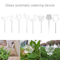 Glass Plant Flowers Water Feeder Self Watering Bird Design Plant Waterer Device