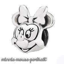 Pandora Genuine ALE 925 Silver Disney Minnie Mouse Portrait Charm 791587