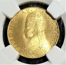 Vatican City: Pius XII gold 100 Lire MCML (1950) MS67 NGC.