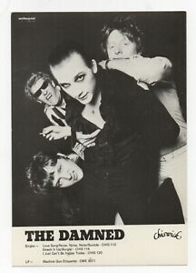 The Damned - Original 1979 UK Fan Club Card