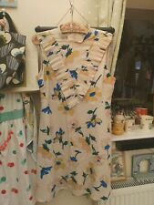 """💐 New ASOS Floral nude coloured floral shift Dress Size 14 pit to pit 19"""""""