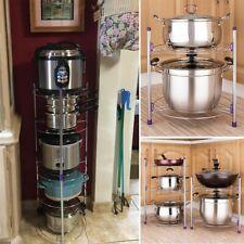 5 Tier Houseware Kitchen Cabinet Pantry Pan and Pot Lid Organizer Rack Holder