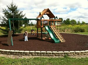1 Full Pallet of Playground Rubber Mulch Brown 2,000 lb