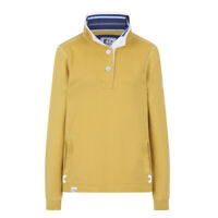 Lazy Jacks Ladies Button Neck Sweatshirt - Gorse - LJ5