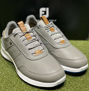 FootJoy Stratos Men's Leather Golf Shoes 50042 Grey 11.5 Wide (2E) NEW #86086