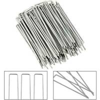 50 Pcs Garden Pegs Stakes Staples Securing Lawn U Shaped Nail Pins ql*