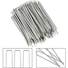 50 Pcs Garden Pegs Stakes Staples Securing Lawn U Shaped Nail Pins