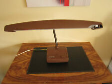 RETRO VINTAGE INDUSTRIAL BROWN HANIMEX GOOSENECK DESK LAMP