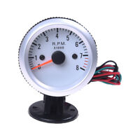 "Tachometer Tach Gauge Holder Cup for Auto Car 2"" 52mm 0~8000RPM LED Light I6F2"