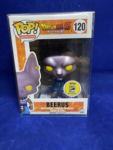 SDCC 2016 Exclusive Lord Beerus POP! Vinyl Figure. FunKo. With Protector