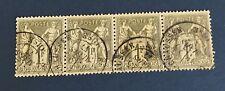 France N°72 1 F  Bronze Oblitère TTB Centrage Bande De 4. Cote 85€