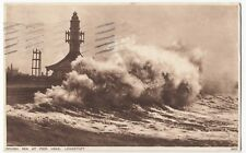 Suffolk; Rough Sea At Lowestoft PPC 1929 PMK To Miss Batt, Plumstead Common