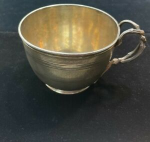 Antique Coin Silver Cup American 1840's