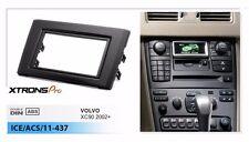 Double 2 Din Radio Facia Audio Installation Dash Trim Kit Fascia for VOLVO XC90