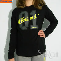 T-Shirt Bambina GIVOVA Nero Bianco Manica Lunga Maglia Felpata 8-16 anni SARANI
