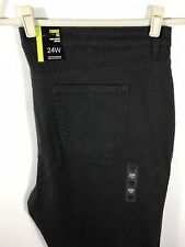 Style & Co. 24W Jeans Tummy Control High Rise Grey Gray Pants Straight Leg 24