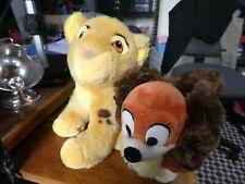 Vintage Simba Cub plush, ion King & Disney Fifi Pluto love interest plush.