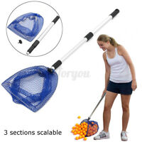 Foldable Telescopic Ping Pong Ball Picker Table Tennis Pick Up Net for  / ❤