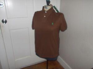 Polo Ralph Lauren The Earth Polo Brown Custom Slim Fit Polo Shirt Sz Small $98