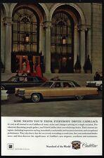 1966 CADILLAC BROUGHAM Luxury Car & FLEETWOOD Limosine & Chauffeur VINTAGE AD