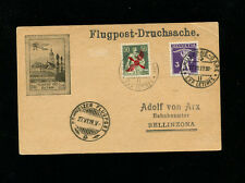 Switzerland 1919 Airmail 1st issue on Illustrated  Airmail Advertising postcard