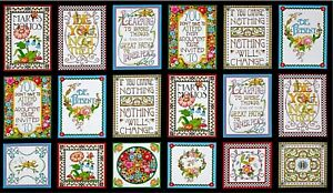 """Mottos to Live By - Mary Engelbreit - 1 Panel (23.5"""")"""