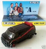 ERTL The A-TEAM GMC Van 1:64 Scale Diecast Model Car on Custom Display Base