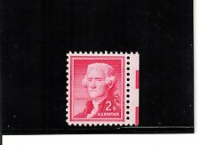 Scott# 1033a  Mint Never Hinged 2c Jefferson Silkote paper Graded 95
