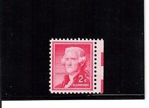Scott# 1033a  Mint Never Hinged 2c Jefferson Silkote paper Graded 95