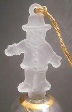 Danbury Mint Gold On Crystal Christmas Bell Gingerbread Man Ornament Euc Glass